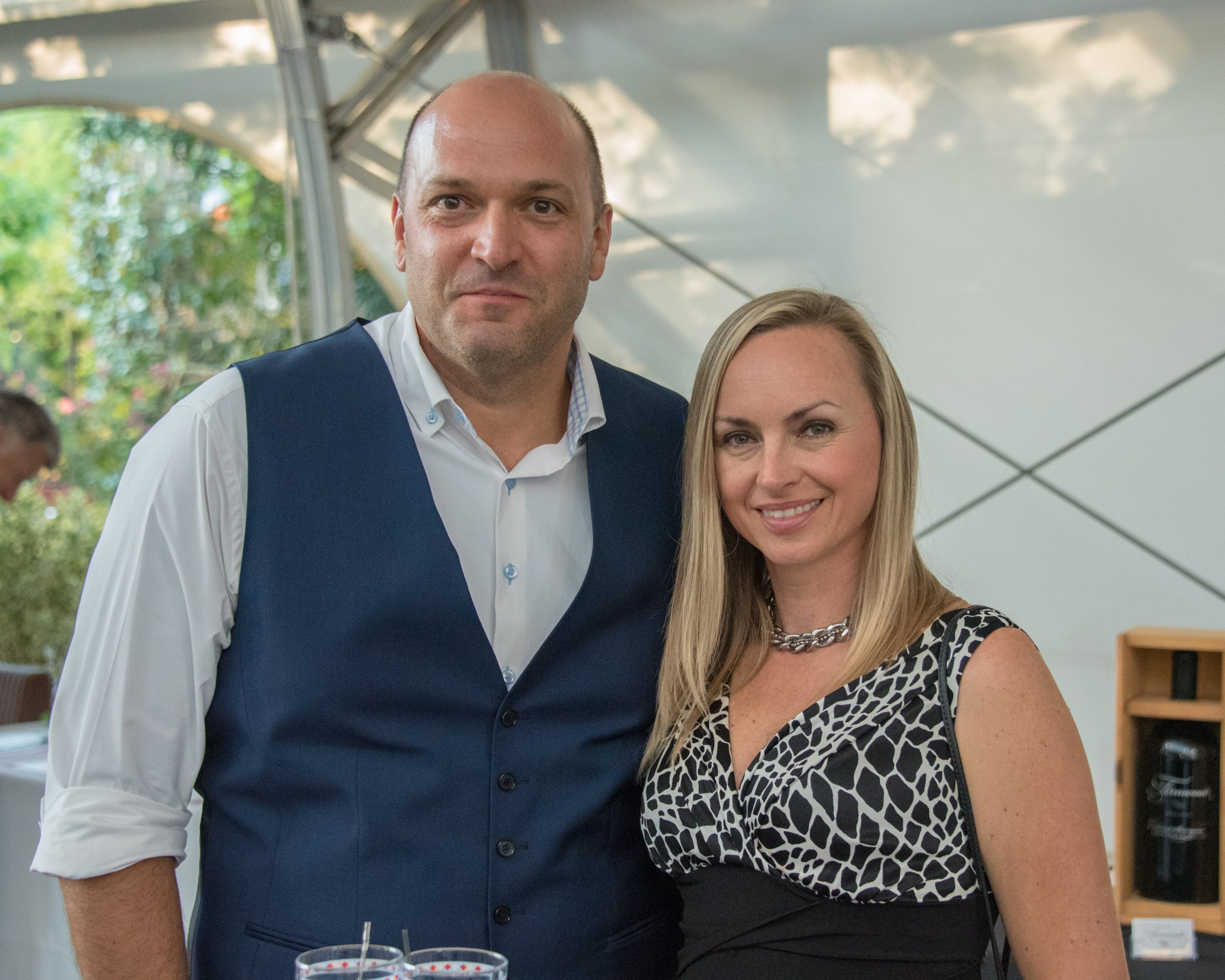 Photo of Luca Ruigiliano and wife Luba Kharchenko at