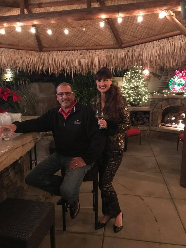 Photo of Hosts Karen and Frank La Corte at Gilroy Foundation's 2017 Holiday Party
