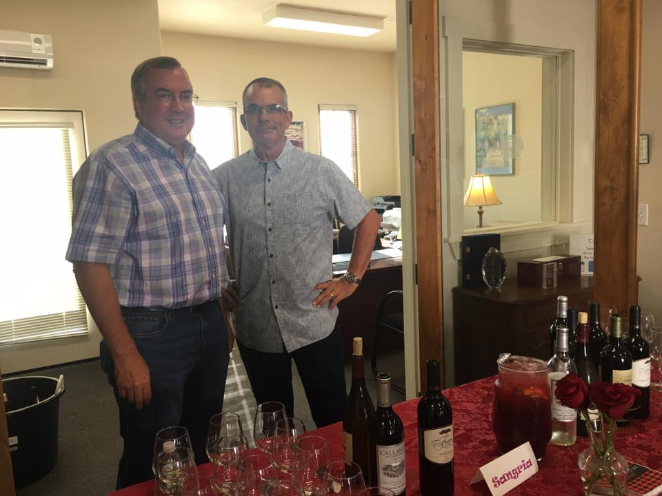 Photo of bartenders Randy Costa and Jim Rhodes at Gilroy Foundation Chamber Mixer