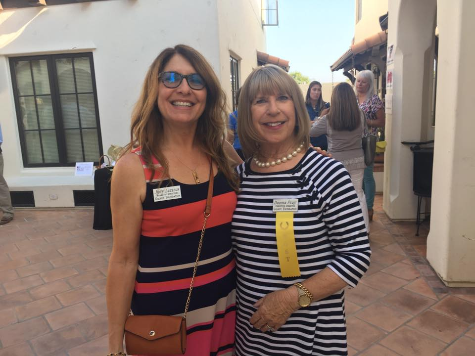 Photo of Judy Lazarus and Donna Pray at Gilroy Foundation Chamber Mixer