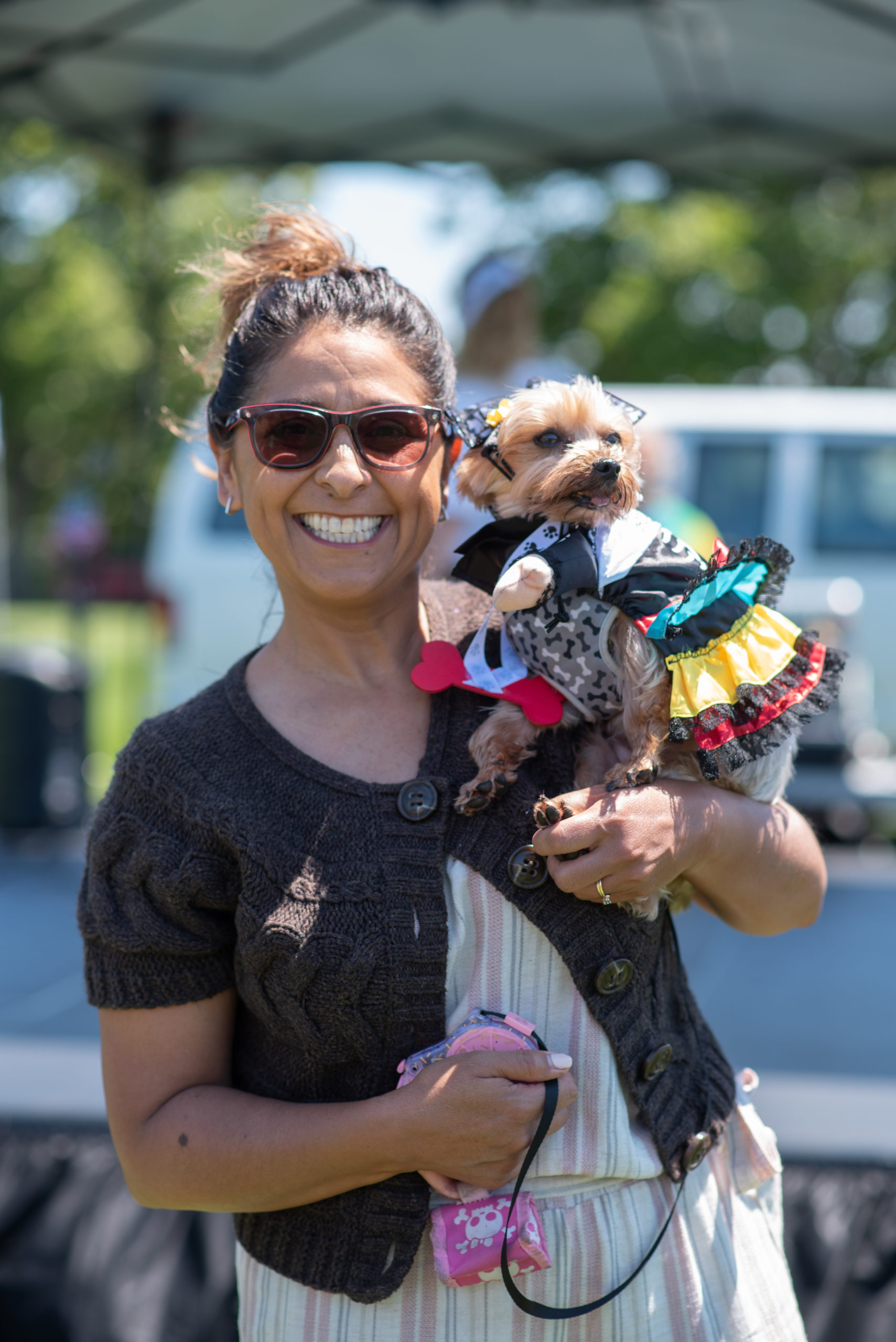 Photo of Deb Sanchez and her dog Snacks at Paws in the Park 2019