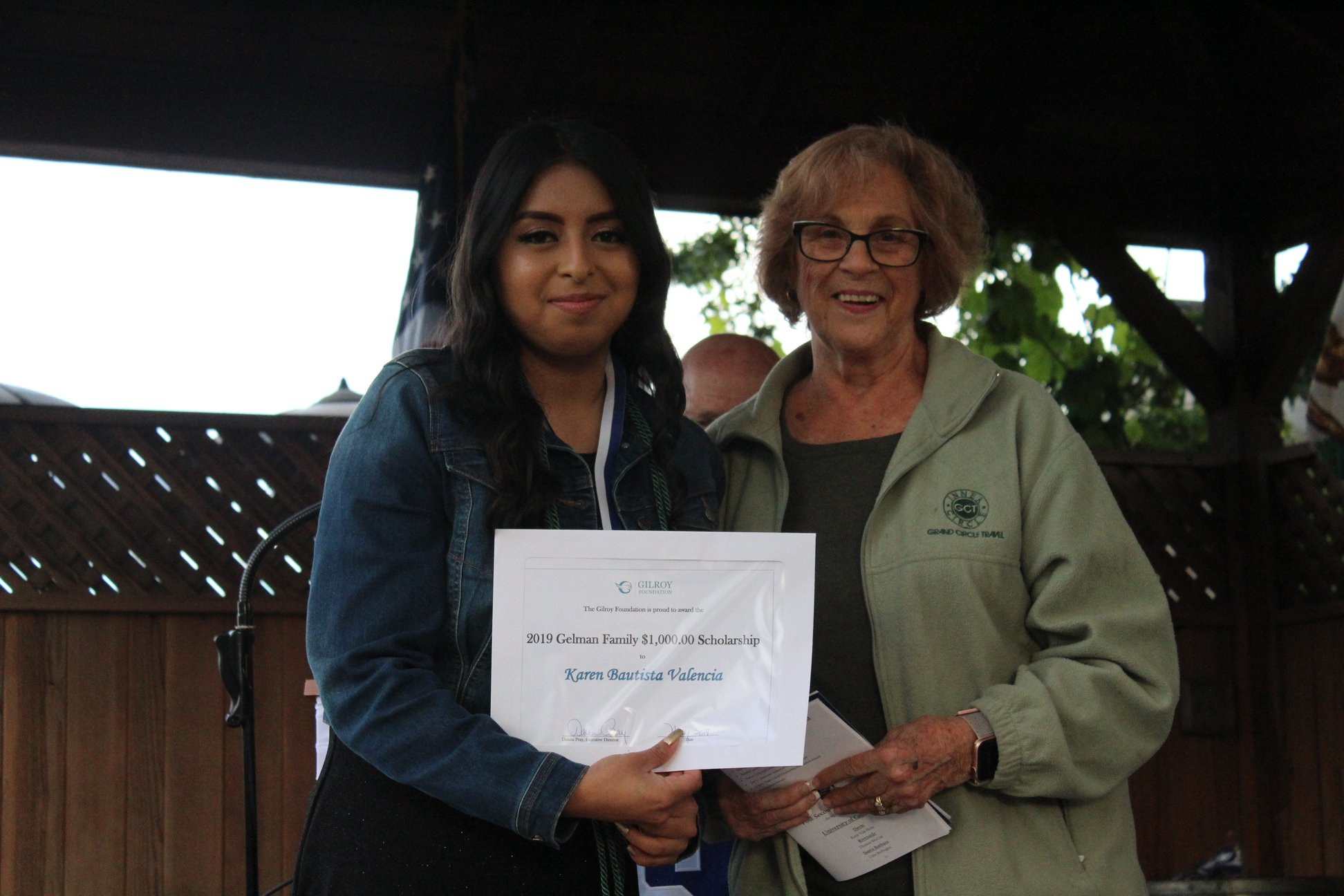 Photo of Woman and girl scholarship recipient