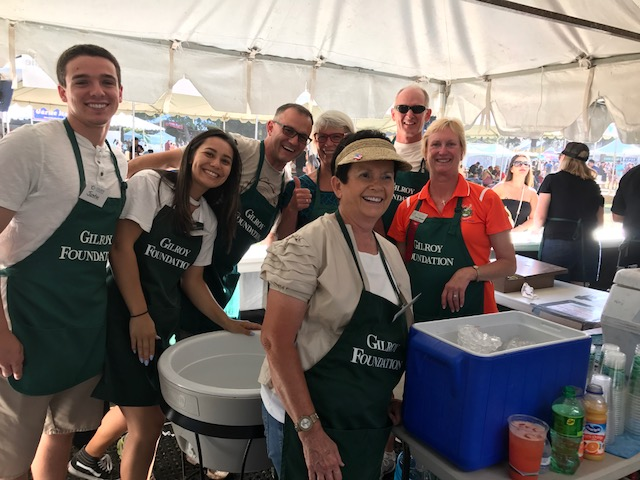 Photo of Gilroy Foundation's Garlic Festival Wine Booth Volunteers having fun
