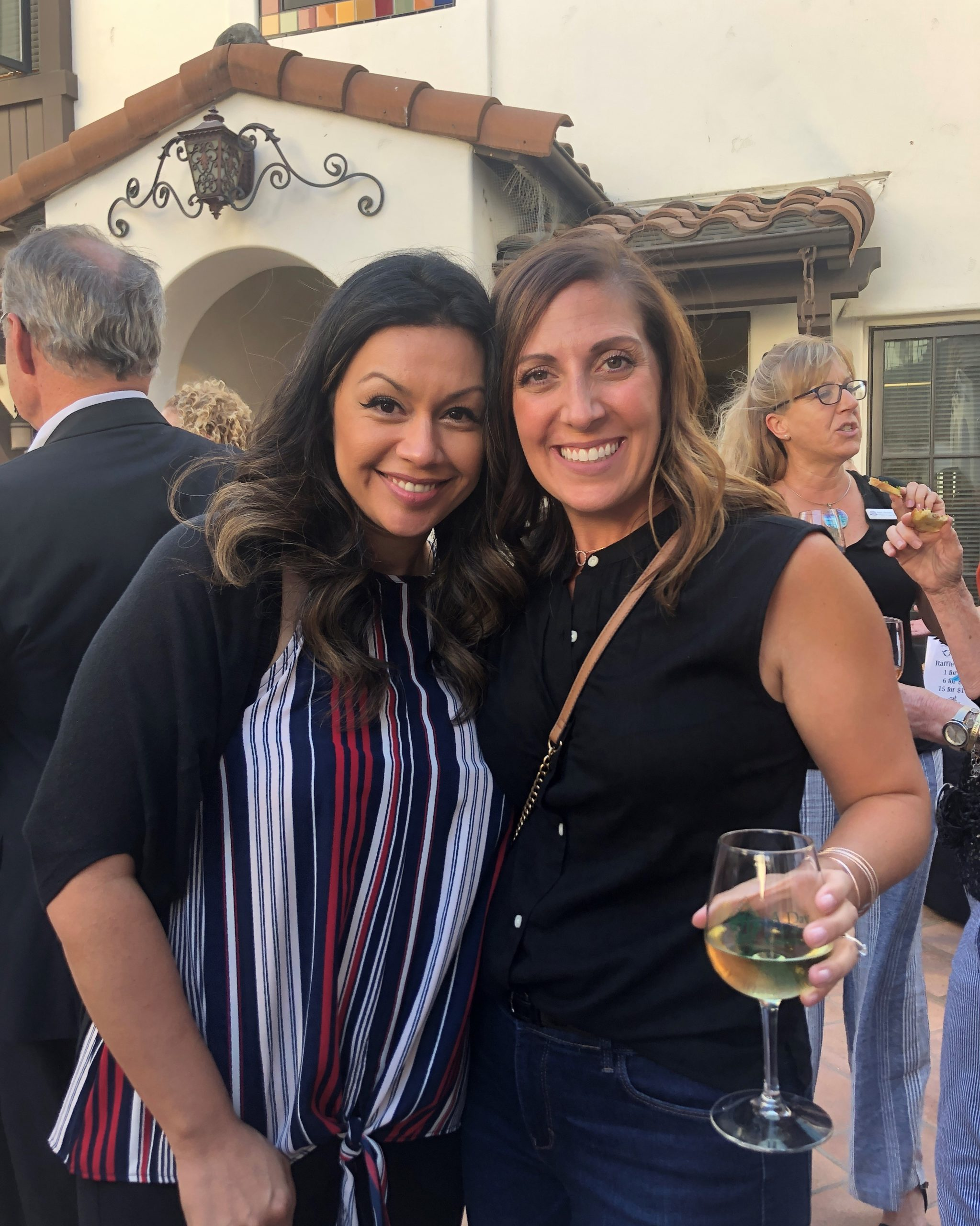 Photo of Andrea Gamble and Claudia Sandoval at Gilroy Foundation's Chamber Mixer
