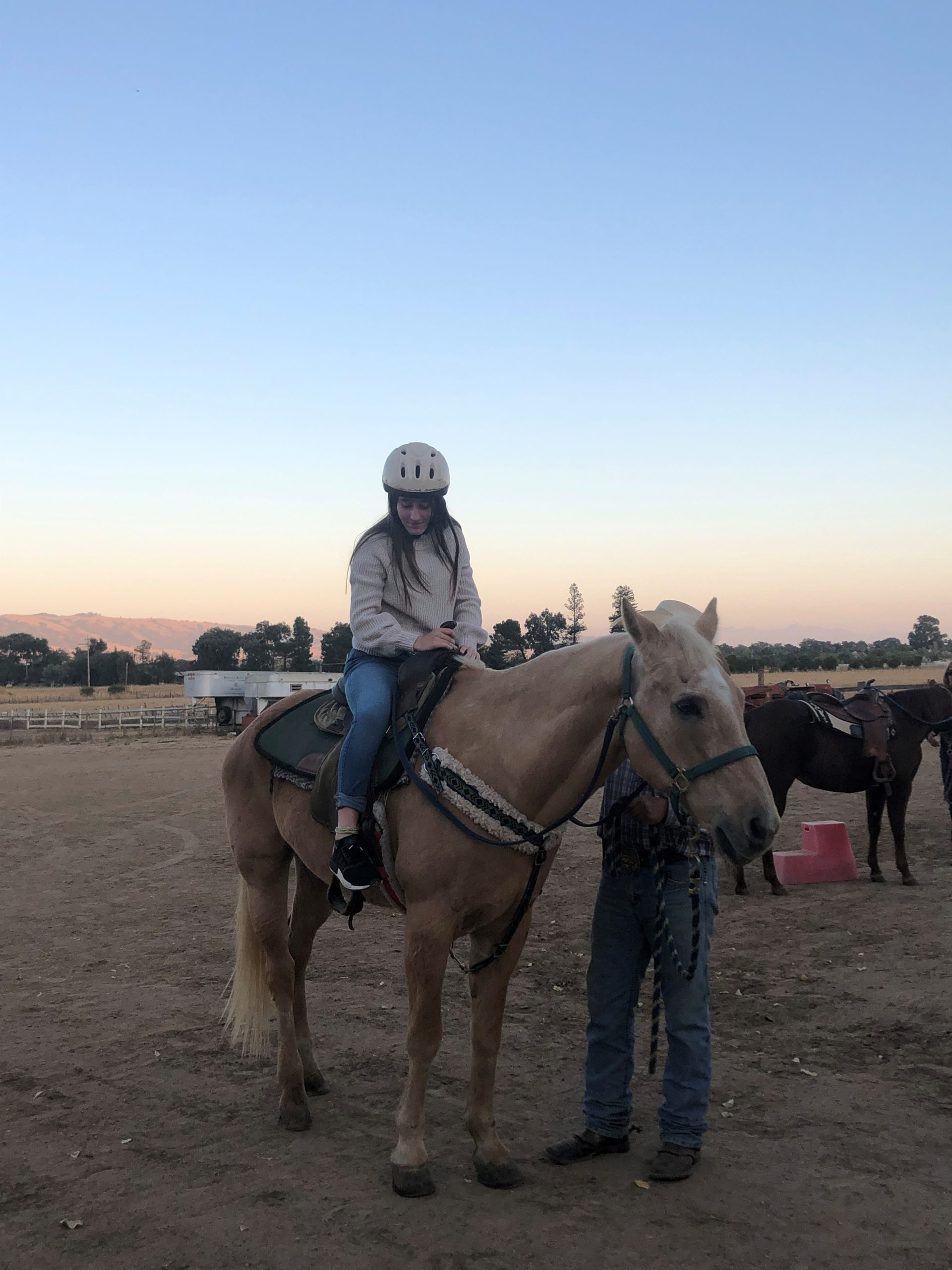 Photo of Youth Board Member on horse