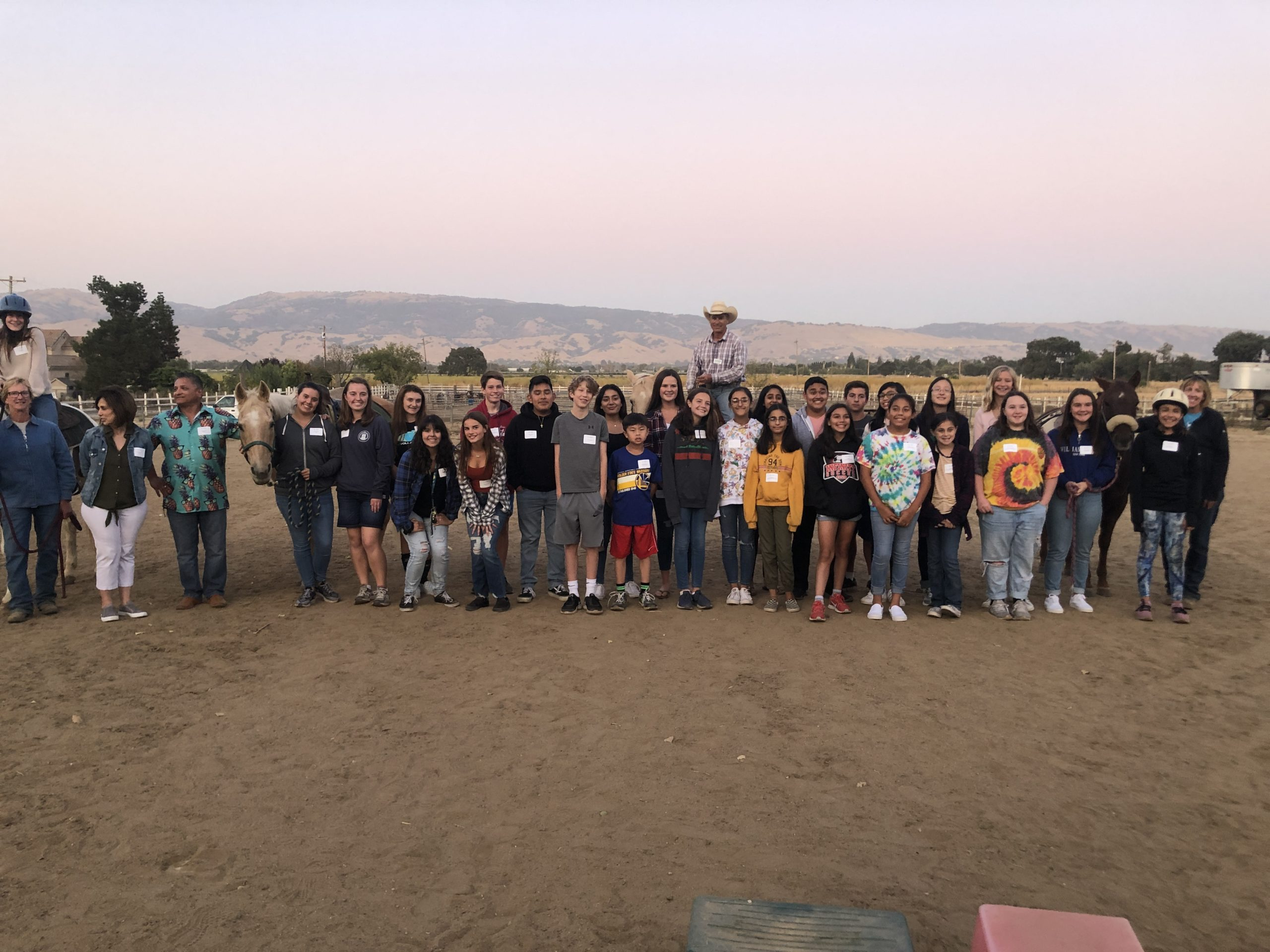 Photo of Gilroy Foundation Youth Board at Bright Ranch