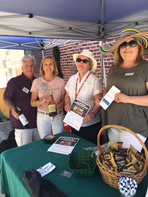 Photo of Gilroy Foundation volunteers at the 2017 Wine Stroll
