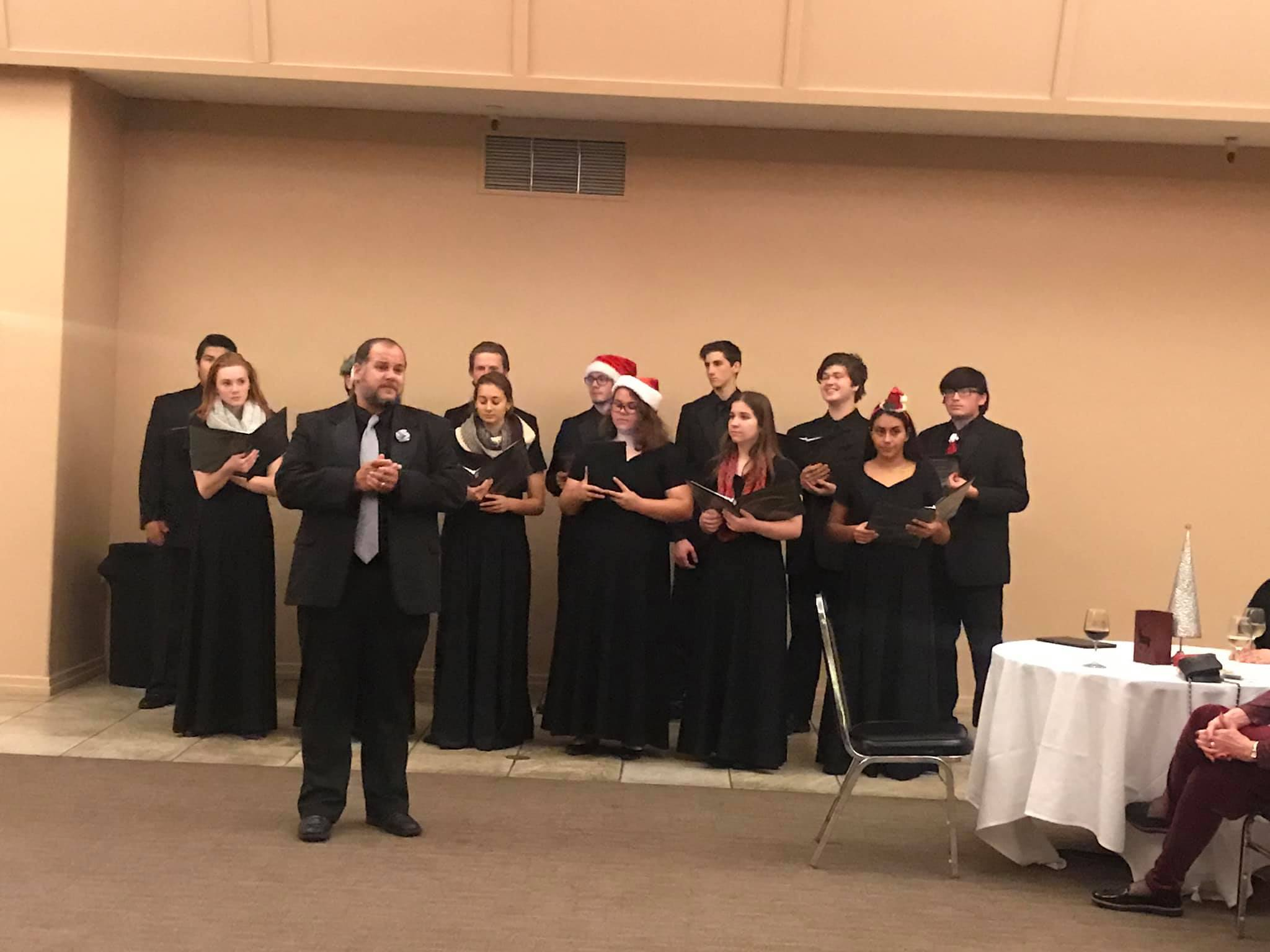 Photo of Gilroy High Chamber Choir and Director Jonathan Souza