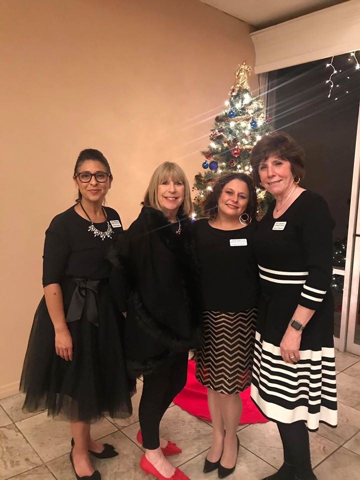 Photo of Gilroy Foundation Staff, Deb Sanchez, Donna Pray, Roya Wallace, and Vicky Campanella
