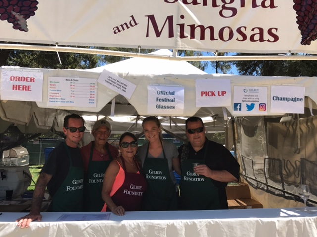Photo of Gilroy Foundation's Garlic Festival Wine Booth Volunteers