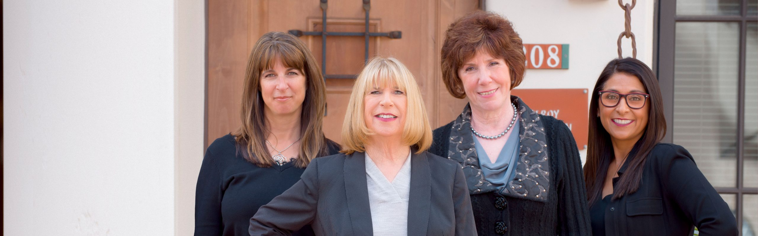 Gilroy Foundation team photo with Donna Pray. Deb Sanchez, and Vicki Campanella